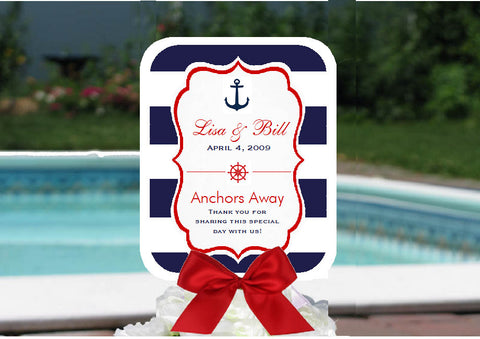 Sailing Nautical Wedding Bridal Baby Favor Hand Fans