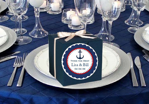 Sailing Nautical Wedding Round Favor Labels Stickers