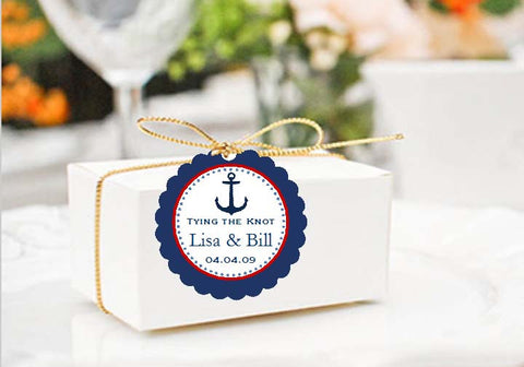 Sailing Nautical Wedding Scalloped Edge Favor Gift Tags