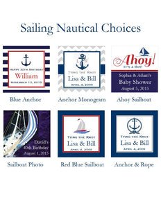 Sailing Nautical Wine Bottle Labels Stickers
