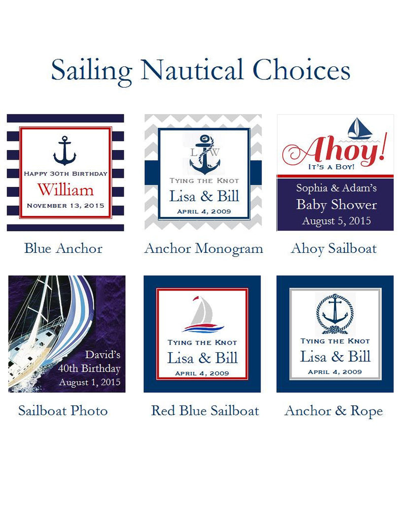 Sailing Nautical Wedding Bridal Baby Favor Hand Fans – Pavia Party ...