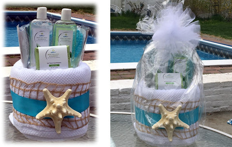 Love Best Mom Mother's Day Beach Spa Gift Basket