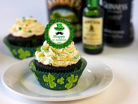 Claddagh Irish St. Patrick's Day Cupcake Toppers