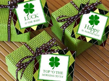 St. Patrick's Day Party Square Favor Gift Tags – set of 10