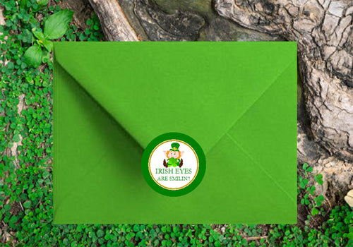 St. Patrick's Day Party Envelope Seals Stickers Labels