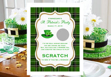 St. Patrick's Day Party Scratch Off Cards Games Tickets
