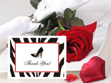 Stiletto High Heel Shoe Thank You Cards Notes