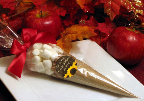 Sunflower Country Party Wedding Apple Cider Cones