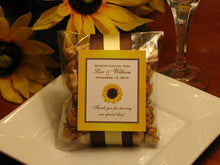 Sunflower Country Rustic Wedding Caramel Corn favors