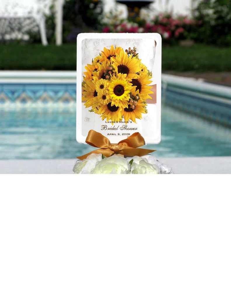 Sunflower Country Rustic Wedding Favor Hand Fans – Pavia Party Favors