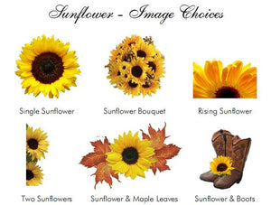 Sunflower Country Rustic Large Chocolate Bar Candy Wrappers