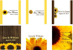 Sunflower Country Rustic Wedding Lip Balm favors