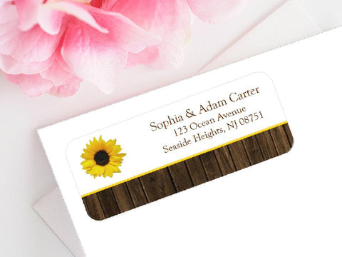 Sunflower Country Rustic Mailing Address Labels Stickers