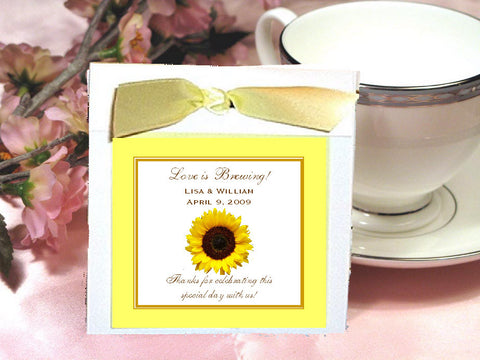 Sunflower Country Rustic Wedding Tea favors