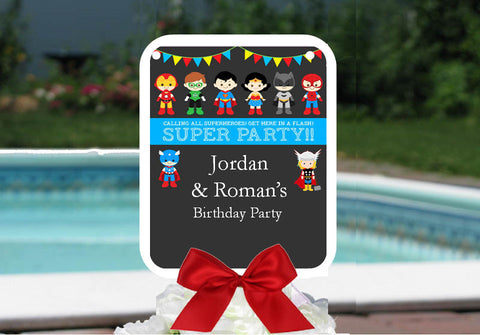 Superheros Birthday Party Favor Hand Fans