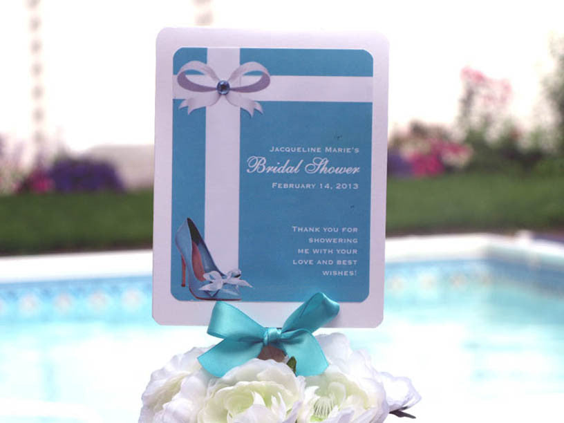 something blue tiffany wedding bridal shower favor hand fans
