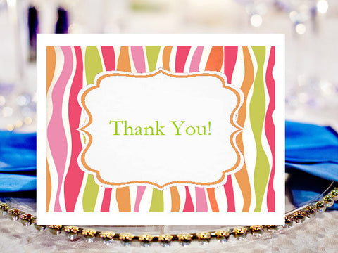 Birthday Party Thank You Cards Notes