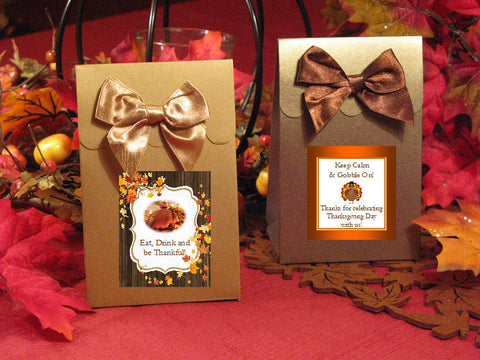 Thanksgiving Party Candy Shoppe Favor Boxes Bags