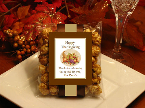 Thanksgiving Party Caramel Corn Favors