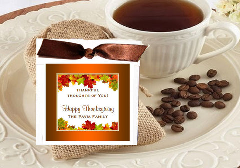 Thanksgiving Party Coffee Singles Favors