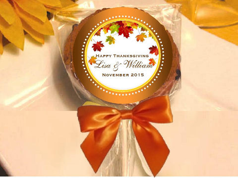 Thanksgiving Party Cookie Pop Favors