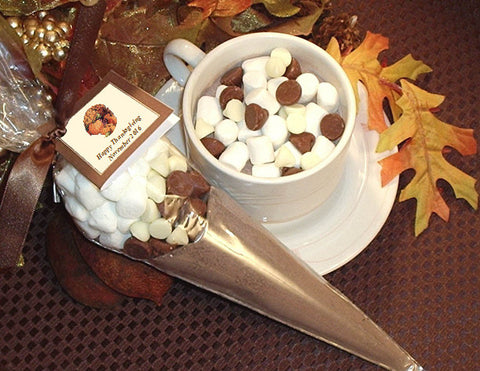 Thanksgiving Party Hot Cocoa Cone Favors