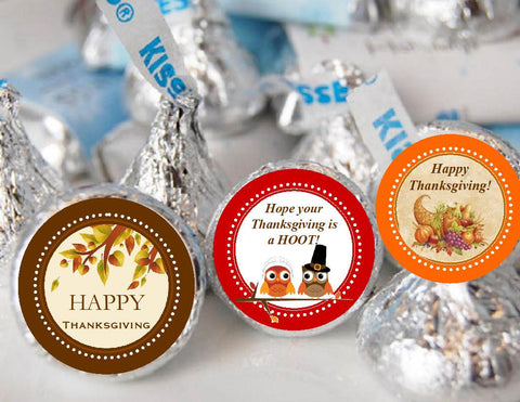 Thanksgiving Party Hershey's Kisses Labels Stickers