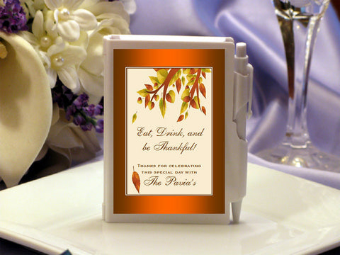 Thanksgiving Party Mini Notebooks Favors