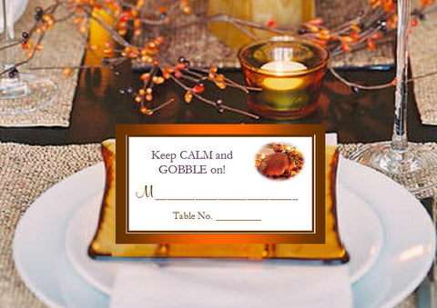 Thanksgiving Party Buffet Place Cards