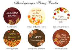 Thanksgiving Party Candy Mint Round Metal Favor Tins