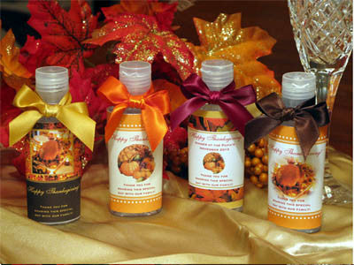 Thanksgiving Party Hand Sanitizers Favors