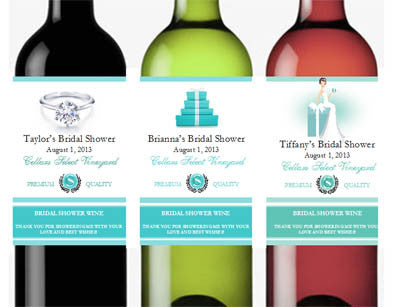 Something Blue Wine Bottle Labels Stickers
