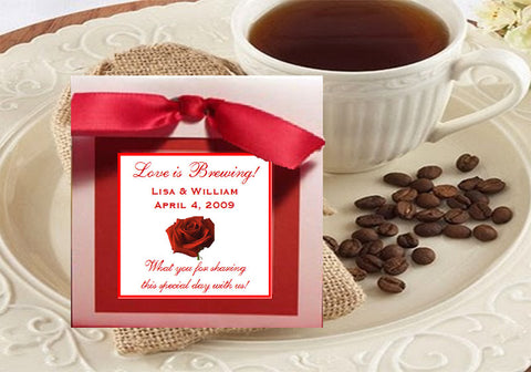 Valentine's Day Party Coffee Singles Favors