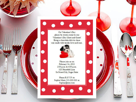 Valentine's Day Party Invitations Announcements