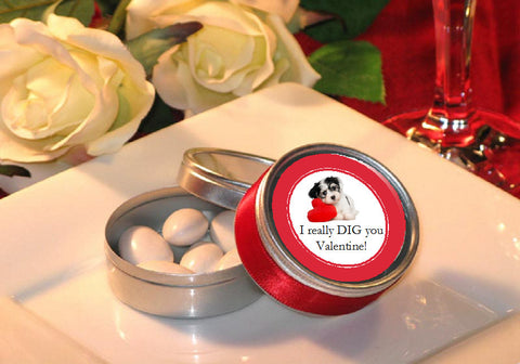 Valentine's Day Party Round Metal Candy Favor Tins
