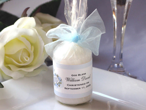 Baptism Christening Gifts Photo Party Candle Favors