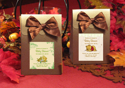 Winnie the Baby Pooh and Friends Baby Shower Brown Candy Shoppe Favor Boxes