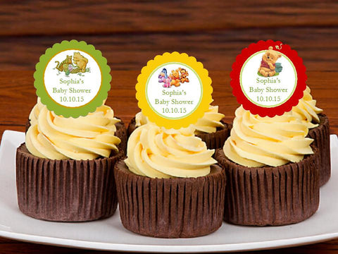 Winnie the Baby Pooh and Friends Cupcake Toppers Decorations