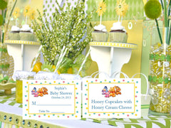 Winnie the Baby Pooh and Friends Baby Shower Buffet Place Cards