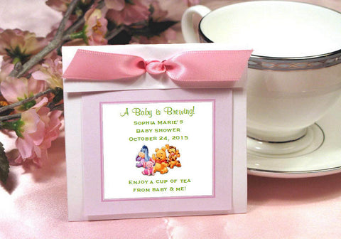 Winnie the Baby Pooh and Friends Party Tea Bag Favors