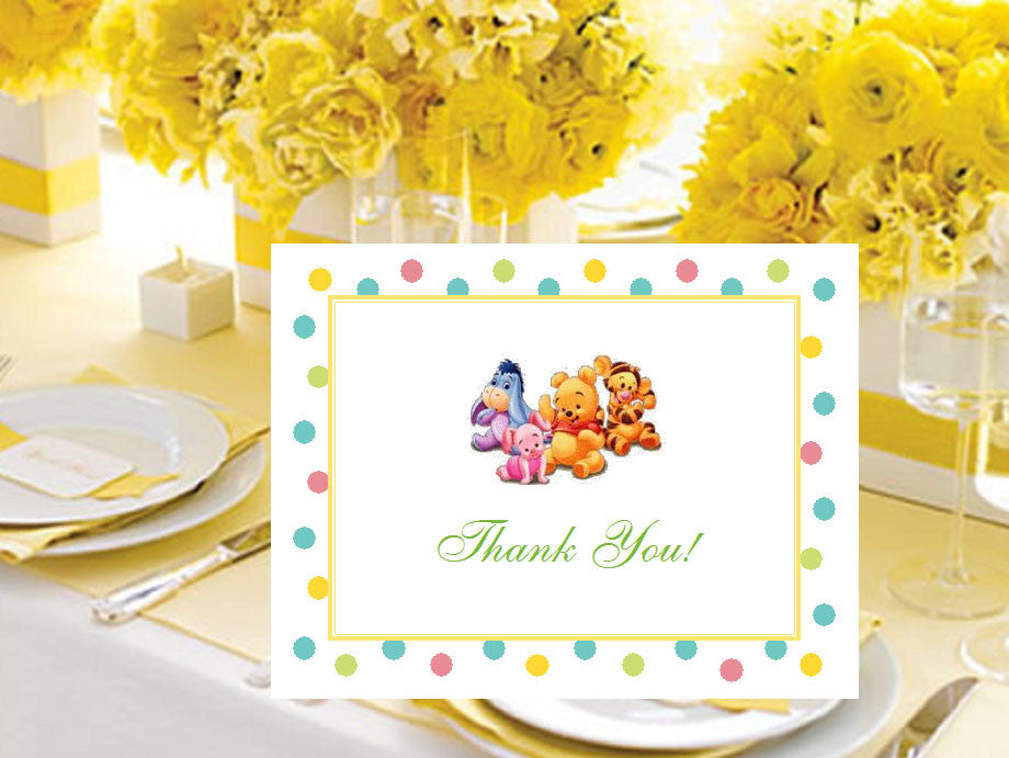 Winnie the baby pooh and friends baby shower thank you cards pavia winnie the baby pooh and friends baby shower thank you cards m4hsunfo