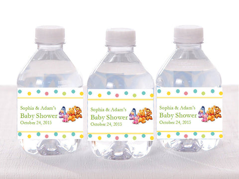 Winnie the Baby Pooh and Friends Water Bottle Labels Stickers