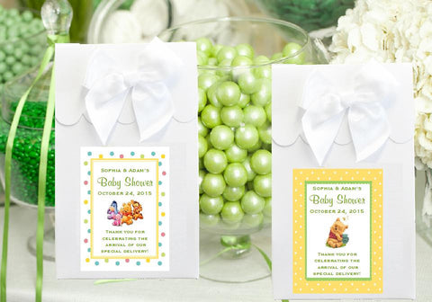 Winnie the Baby Pooh and Friends Baby Shower White Candy Shoppe Favor Boxes