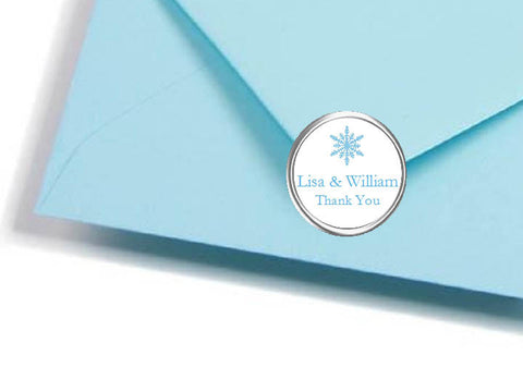 Winter Wedding Snowflake Envelope Seals Stickers Labels