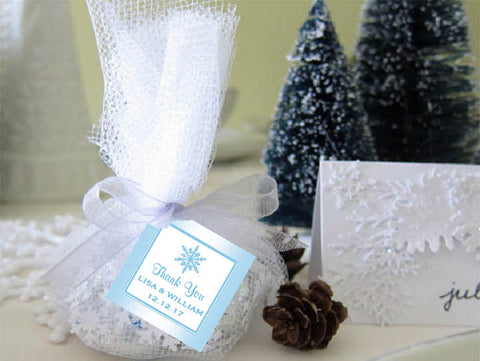 Winter Wedding - Let It Snow Party - Square Favor Tags