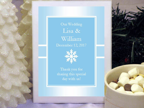 Winter Wedding - Let It Snow Party - Hot Chocolate Cocoa Favors