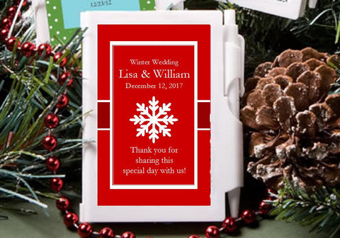 Winter Wedding - Let It Snow Party - Mini Notebooks Favors
