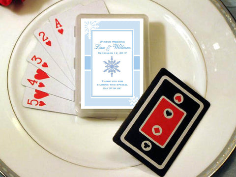 Winter Wedding - Let It Snow Party - Playing Cards Favors