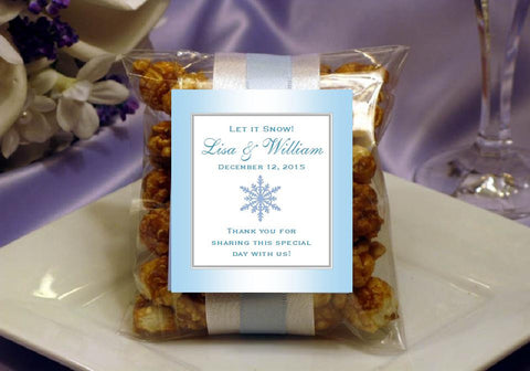 Winter Wedding - Let It Snow Party - Caramel Corn Favors