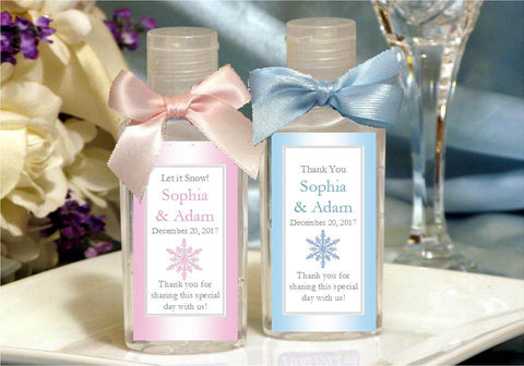 Winter Wedding - Let It Snow Party - Hand Sanitizers Favors